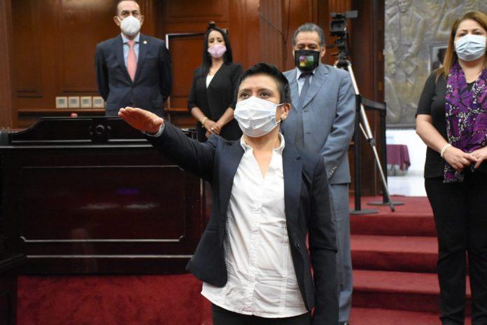 Por unanimidad, el Congreso de Michoacán designó a la ciudadana Alfega Rivera Alejo, presidenta municipal sustituta de Chilchota,