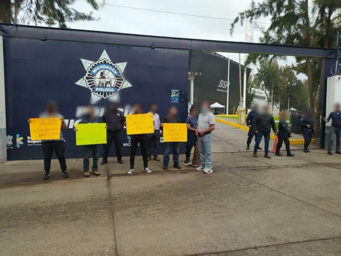Nueva manifestación de policías estatales, en demanda de prestaciones
